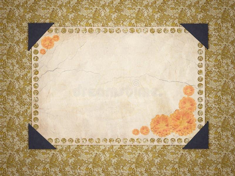 Vintage floral old paper. Framework. royalty free stock photos