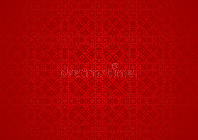 Vintage Floral Oriental Ornamental Chinese Arabic Islamic Imlek Ramadan Festival Red Pattern Texture Background Wallpaper stock illustration