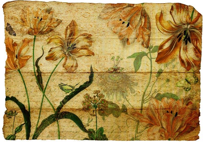 Vintage floral paper stock illustration
