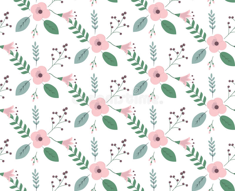 Vintage floral pattern royalty free illustration