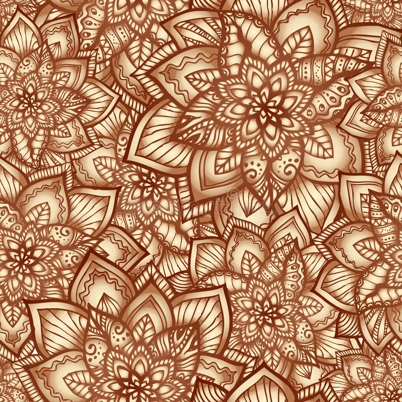 Download Vintage Floral Pattern With Doodle Flowers Stock Vector - Image: 28377772