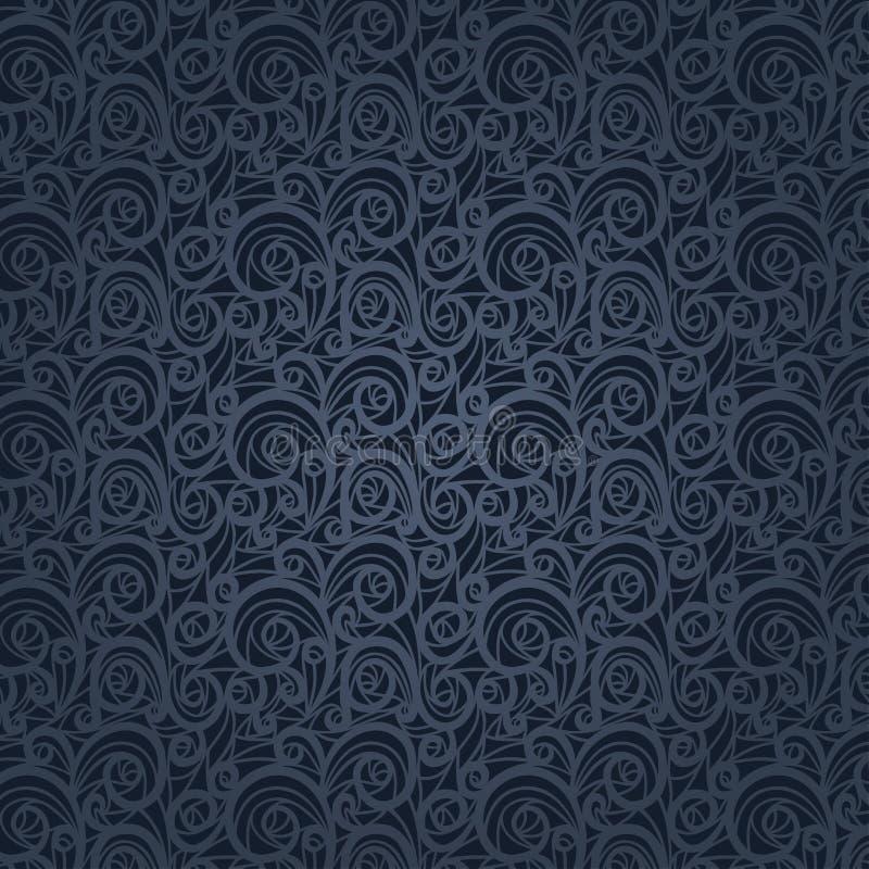 Download Vintage Floral Pattern On A Gray Background Stock Vector - Illustration of dark, vintage: 28503873