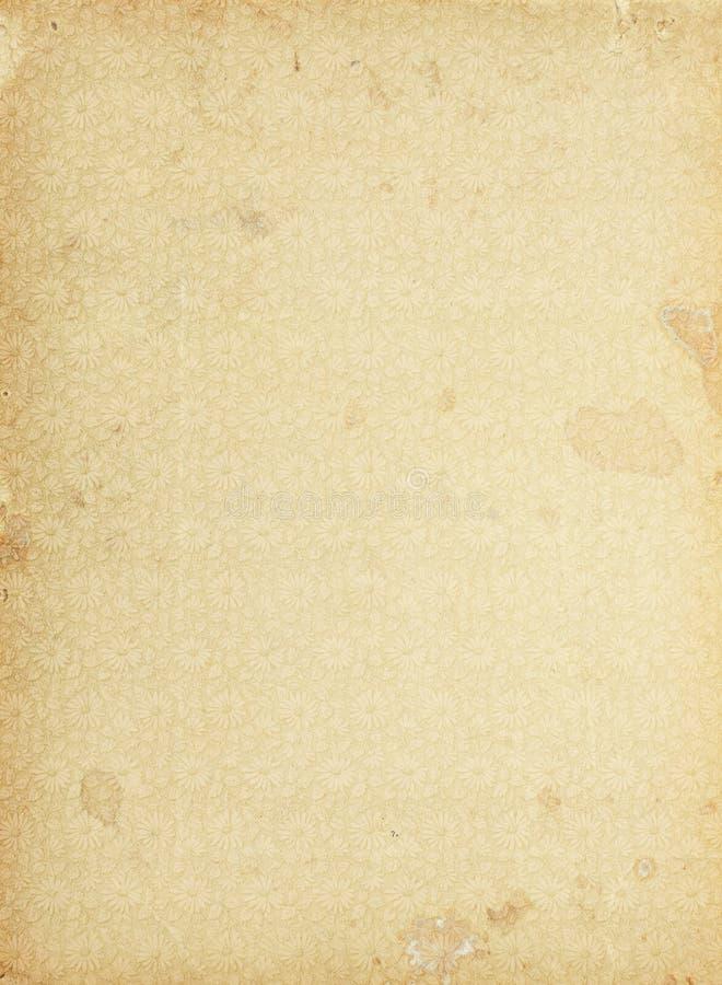 Download Vintage Floral Pattern Paper Stock Illustration - Illustration of antique, stained: 22677718