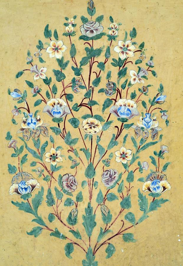 Vintage floral pattern wall background royalty free stock photo