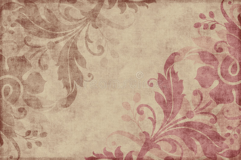 Download Vintage Floral Scrapbook Background Stock Image - Image: 5548985