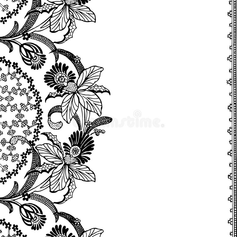 Vintage floral Scrapbook Background stock illustration