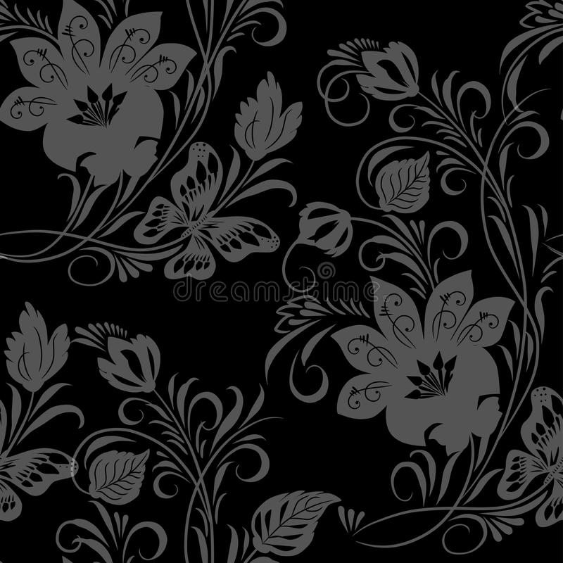 Vintage Floral Seamless Stock Photography