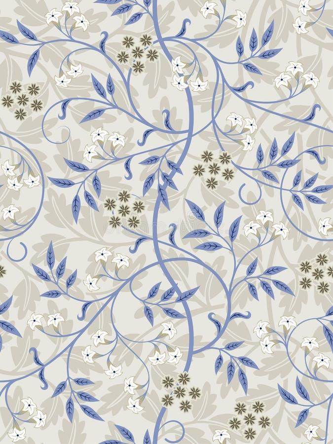 Vintage floral seamless pattern on light background. Vector illustration. royalty free illustration