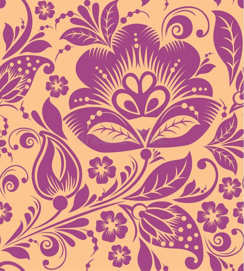 Vintage floral seamless pattern. Vector. stock illustration