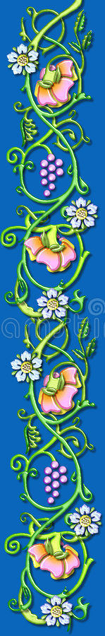vintage floral vine motif stock photo