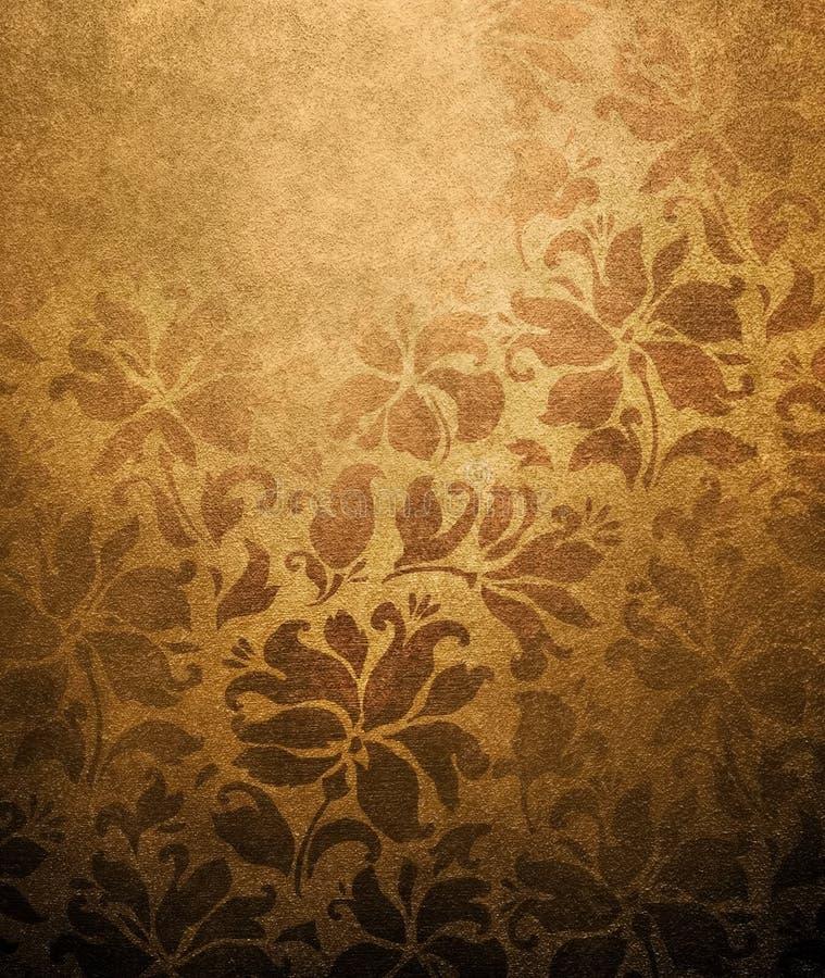 Vintage floral wallpaper royalty free illustration