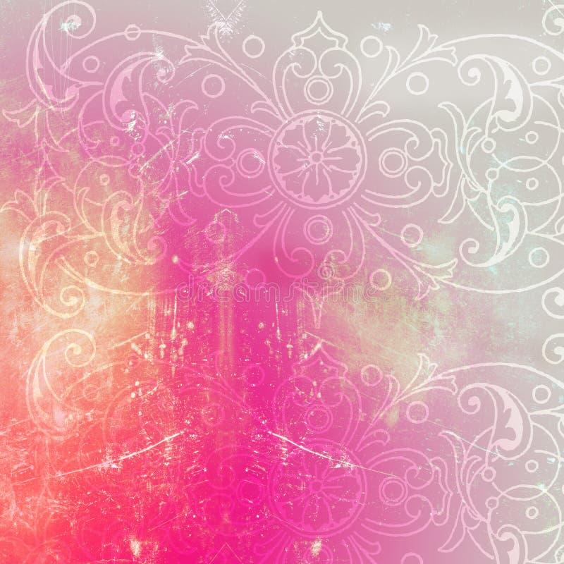 Grungy Botanical Vintage Filigree Background Or Scrapbook Paper
