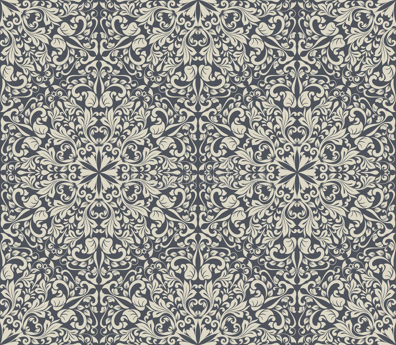Download Vintage Floral Wallpaper Pattern Stock Vector