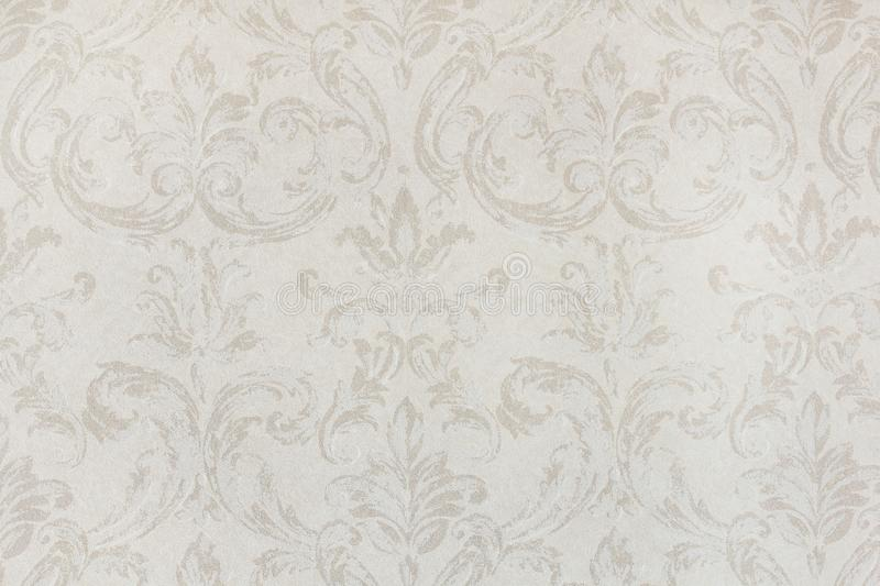 Vintage wallpaper with curls royalty free stock image