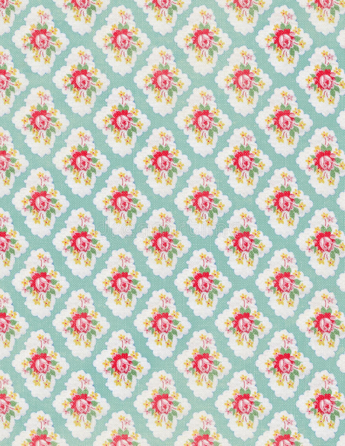 Vintage floral wallpaper rose repeat pattern stock photos