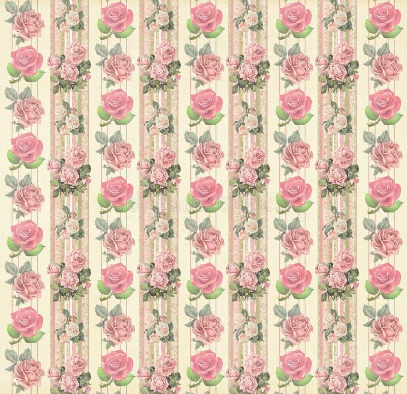 Vintage floral wallpaper stock image