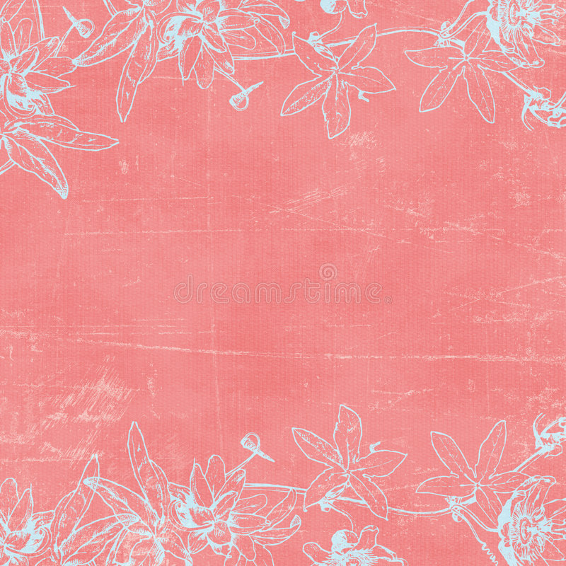Free Vintage Florals Botanical Paper Background Royalty Free Stock Photo - 4697255