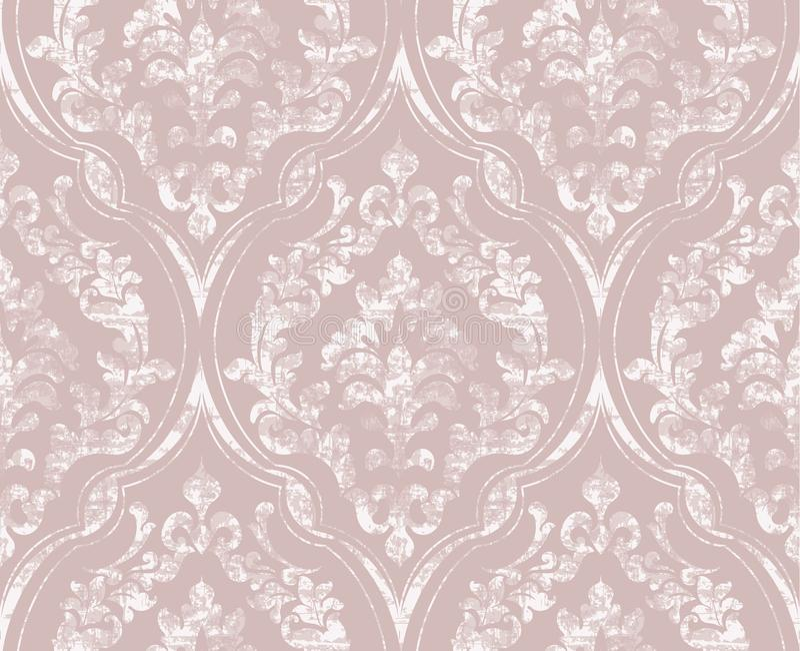Vintage flourish ornamented pattern Vector. Victorian Royal texture. Flower decorative design. Light color decors. Vintage flourish ornamented pattern Vector royalty free illustration