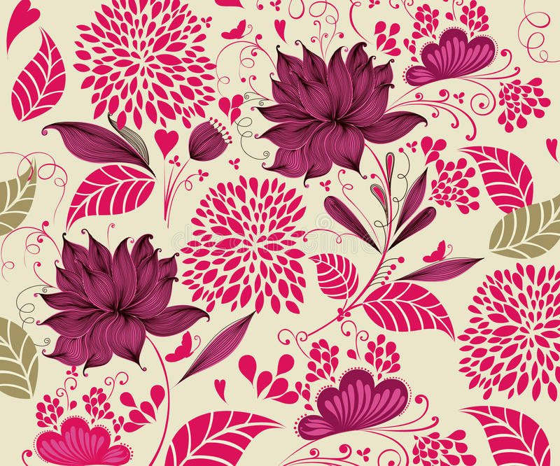 Vintage flower background vector illustration