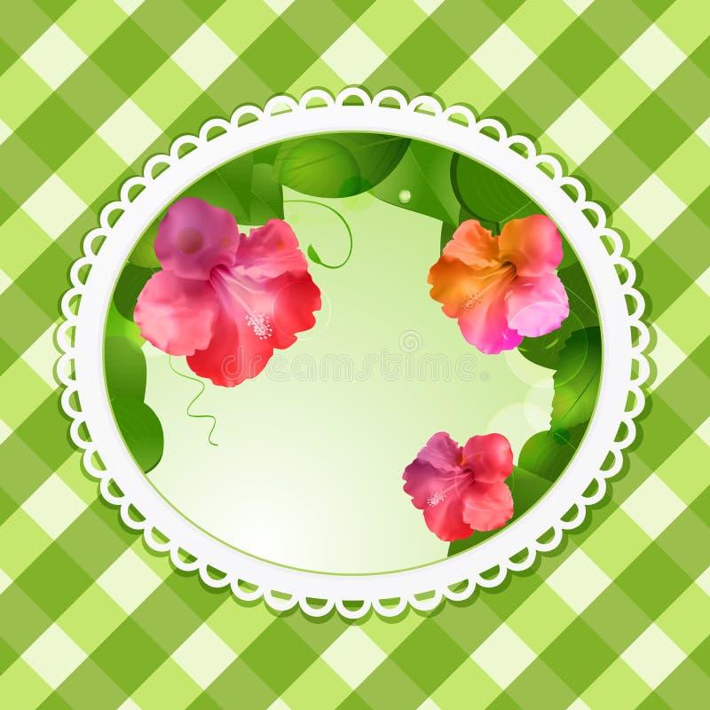 Vintage Flower Background Oval Stock Photography