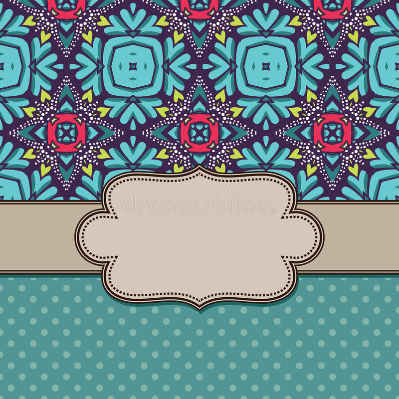 Vintage flower frame. background with leaves. Vintage flower frame background with leaves royalty free illustration