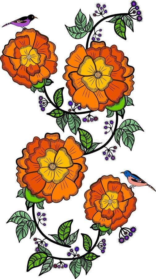 Download Vintage flowers stock vector. Image of garden, element - 16682139