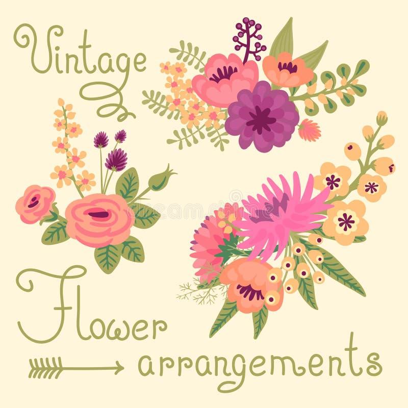 Vintage Flowers. Cute Flower For Design Stock Vector - Illustration ...