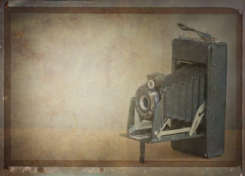 Vintage folding camera. stock photography