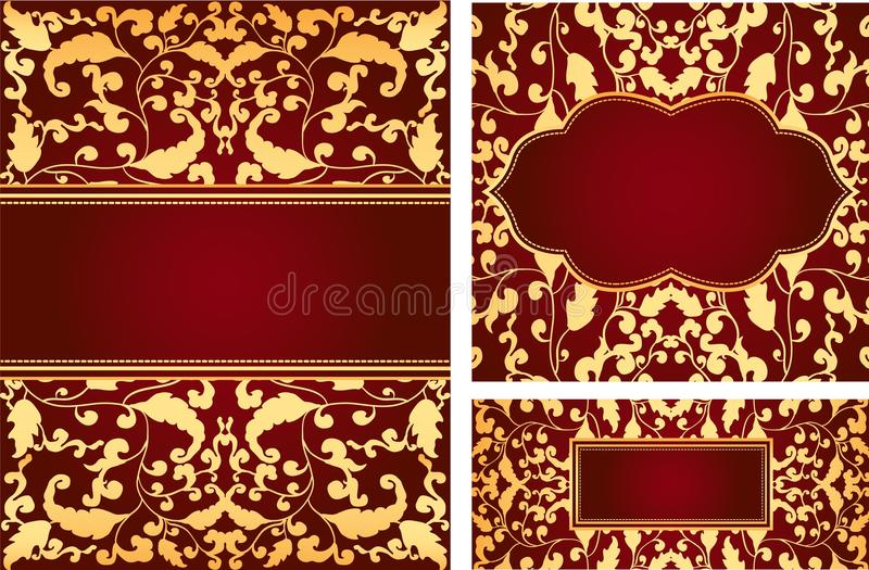 Download Vintage foliage ornaments stock vector. Image of illustration - 20248555