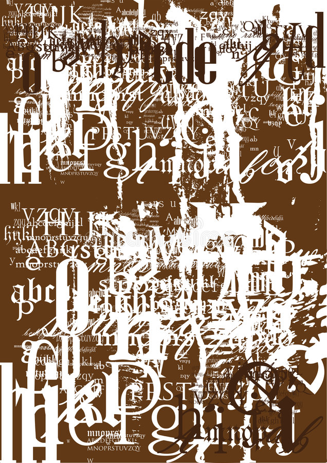 Download Vintage font texture stock vector. Image of print, banner - 8320244