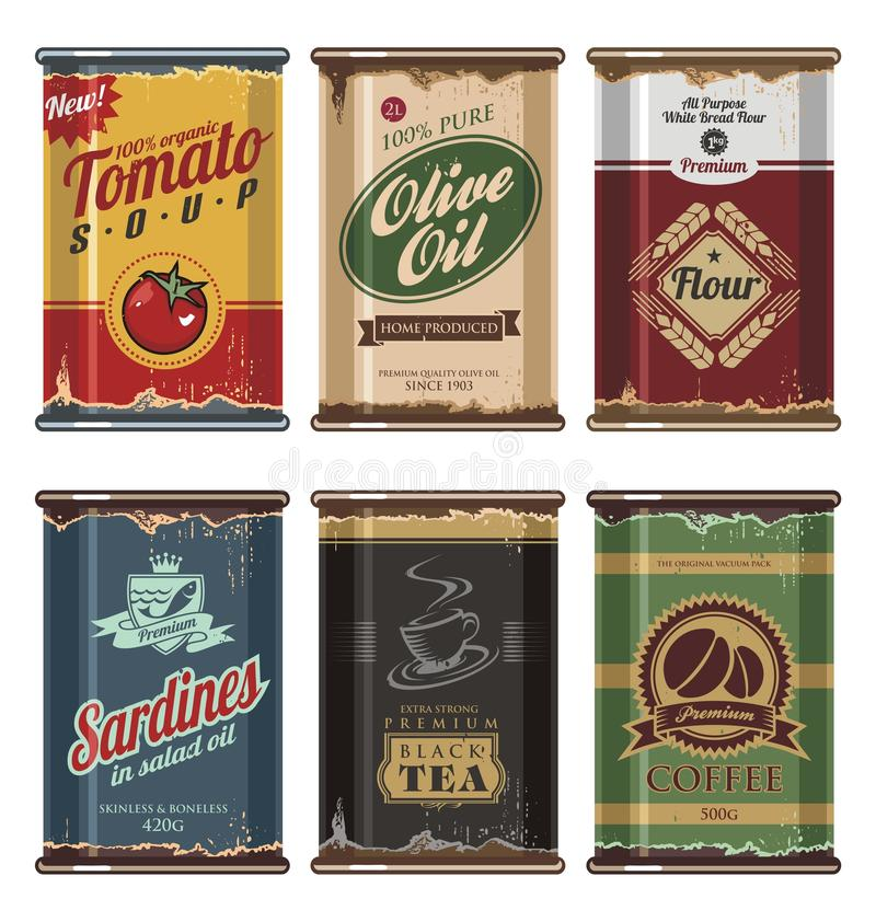 Free Vintage Food Cans Stock Image - 27921911