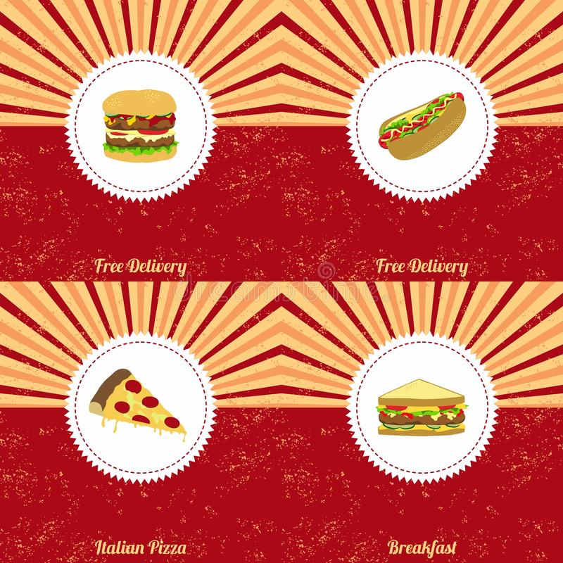 Vintage food theme. Art graphic illustration stock illustration
