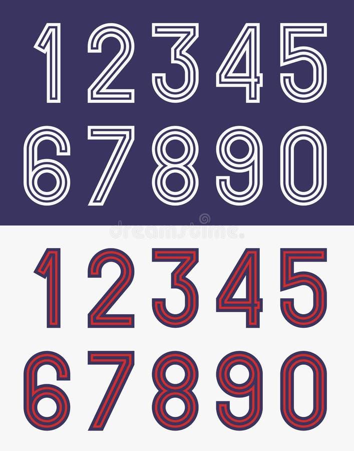 Vintage Jersey Font Numbers Stock Illustrations – 492 Vintage ...
