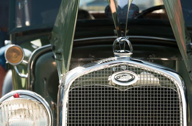 Vintage Ford grille stock fotografie