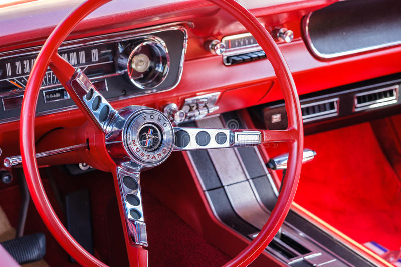 Vintage Ford Mustang stock photography
