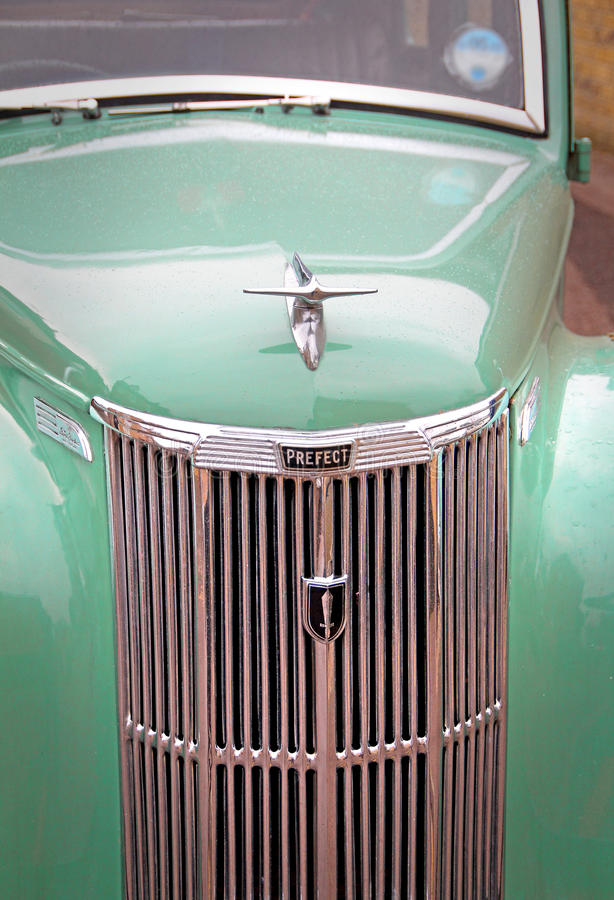 Free Vintage Ford Prefect Car Grille And Mascot Royalty Free Stock Image - 51448186