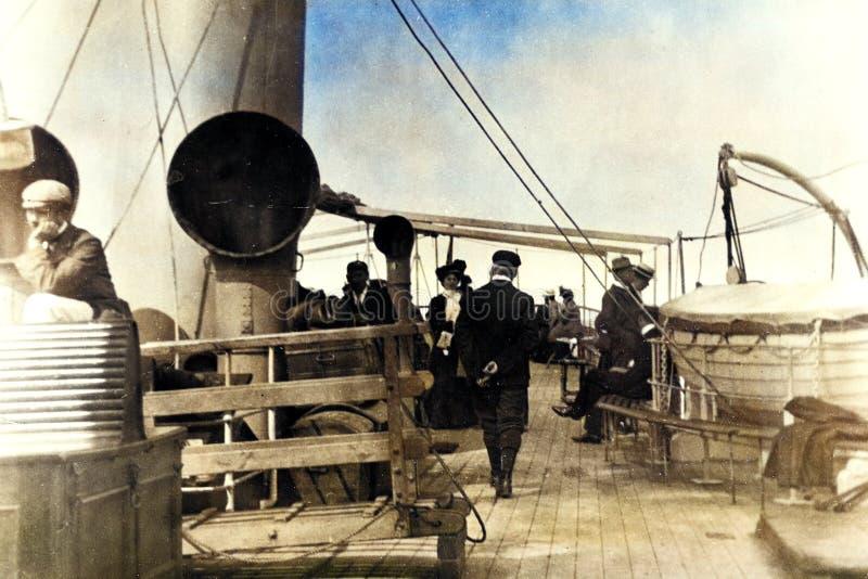 Vintage 1899 Foto de Conway para Liverpool Excursion Steamer foto de stock