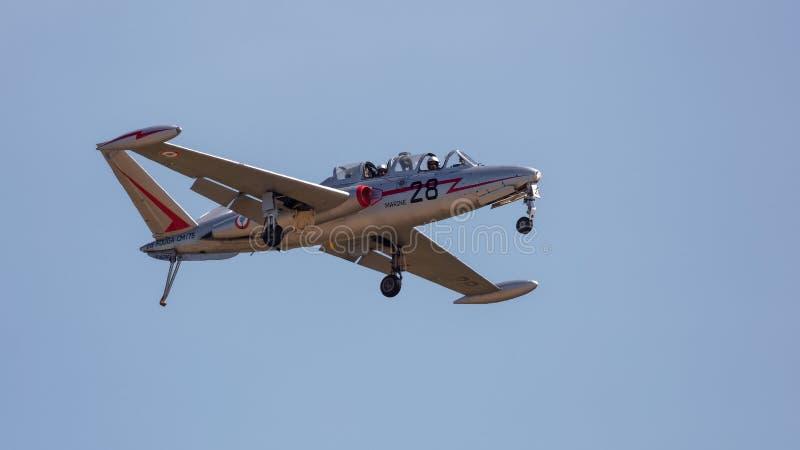 Vintage Fouga cm 170 aviones de jet franceses de Magister imagen de archivo