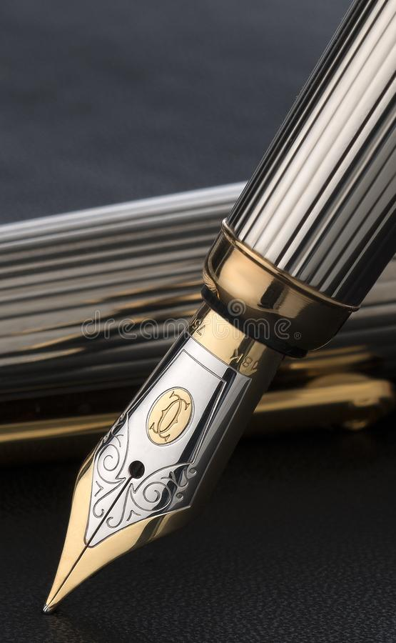 Vintage fountain pen royalty free stock image