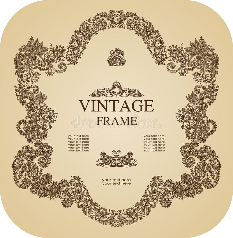 Download Vintage frame stock vector. Image of ornament, identity - 20417427