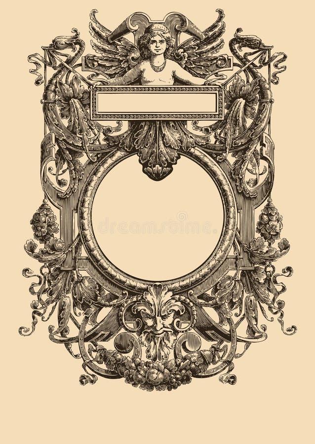 Download Vintage Frame  21 stock vector. Illustration of clan, arabesque - 8523280