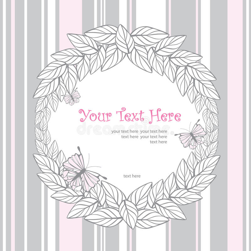Download Vintage frame stock vector. Image of style, window, butterfly - 26853042