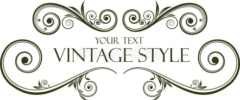 Vintage frame royalty free illustration