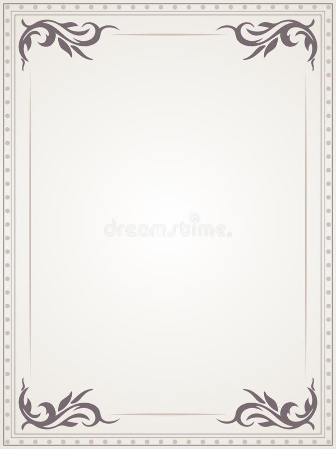 Vintage Frame. Beautiful Frame. Background With Floral Design. Stock ...