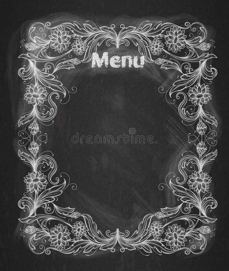 Vintage Frame On The Chalkboard. Stock Vector - Illustration of ...