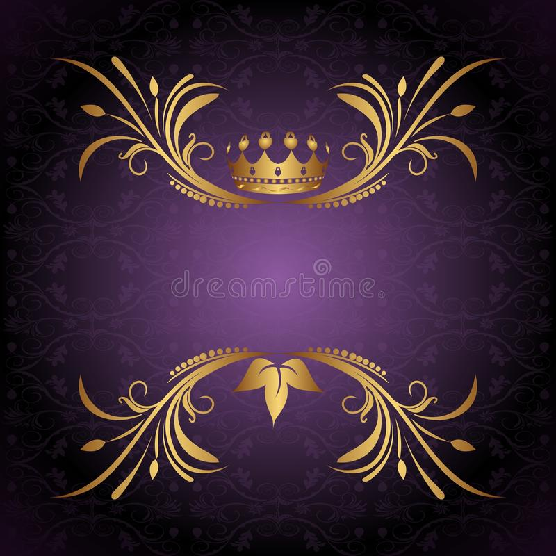 Download Vintage frame with crown stock vector. Image of classic - 17674972