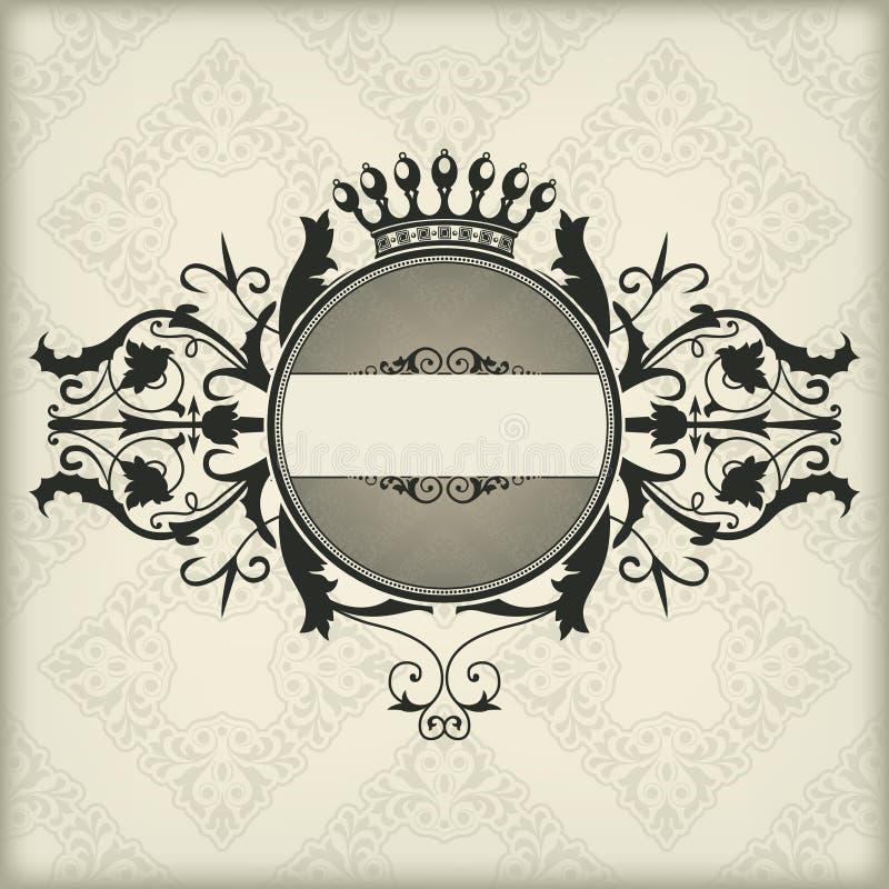 Download Vintage frame with crown stock vector. Image of elegant - 31996832