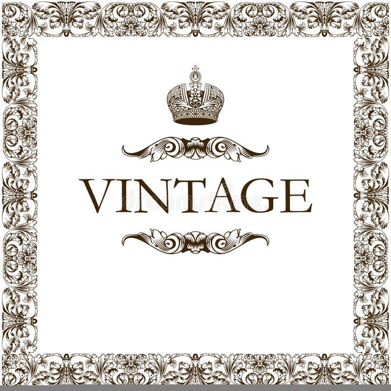 Download Vintage frame decor crown stock vector. Image of paper - 10377211