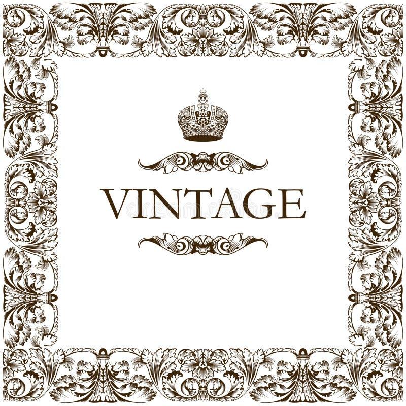 Vintage frame decor ornament stock vector illustration for Greche decorative