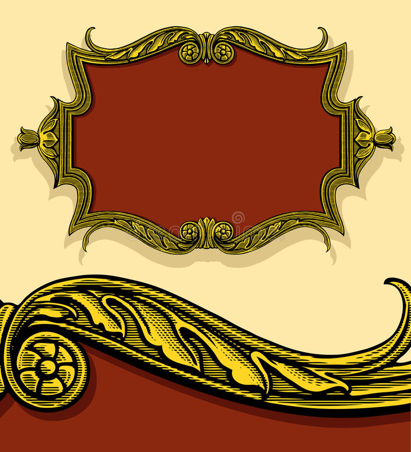 Download Vintage Frame In Engraved Style Stock Vector - Image: 22432433